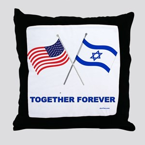 US and Israel Together Forever Throw Pillow