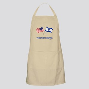 US and Israel Together Forever Apron
