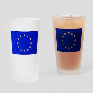 EU Flag Drinking Glass
