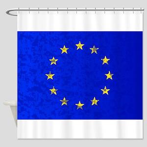 EU Flag Shower Curtain