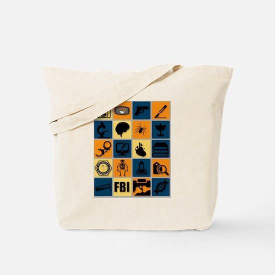 BONES TV Flat Icon Poster Tote Bag