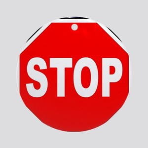 Octagon Stop Sign Round Ornament