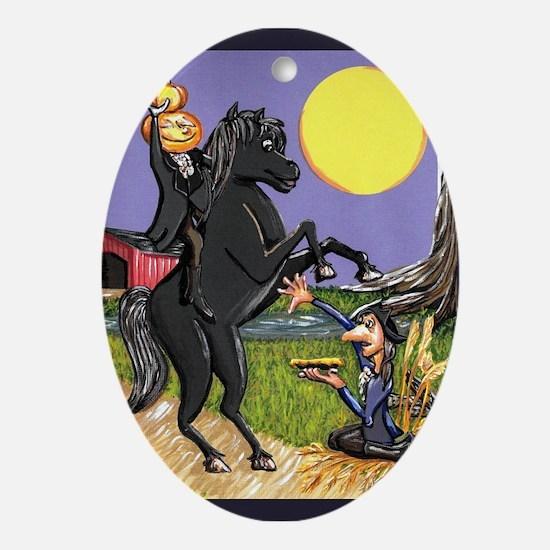 Headless Horseman Ichabod Crane Exchanging Under M