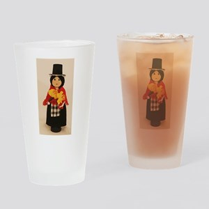 Welsh Cloths Pin Doll Drinking Glass