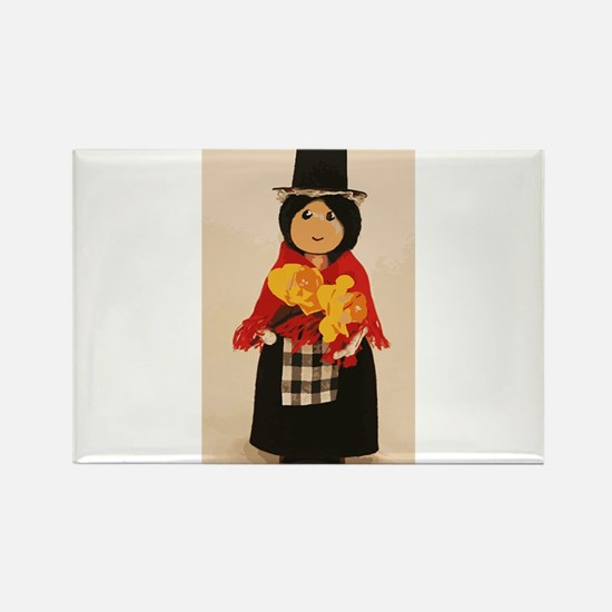 Welsh Cloths Pin Doll Magnets