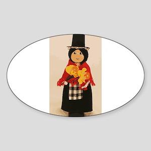 Welsh Cloths Pin Doll Sticker