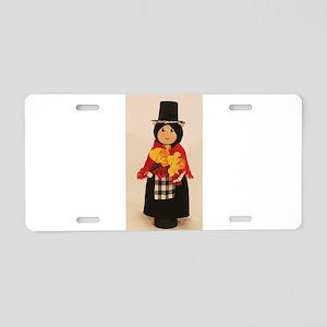 Welsh Cloths Pin Doll Aluminum License Plate