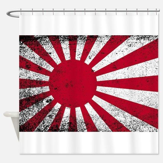 Japanese Flag Shower Curtain