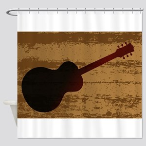 Guitar Brand Shower Curtain