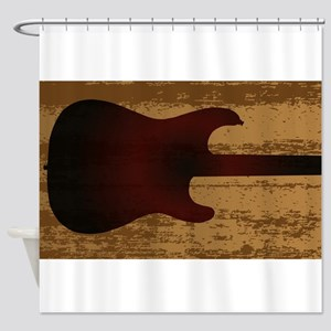 Electric Guitar Brand Shower Curtain