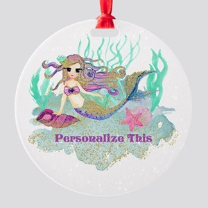 Cute Personalized Mermaid Ornament