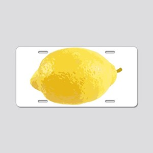 Lemon Aluminum License Plate