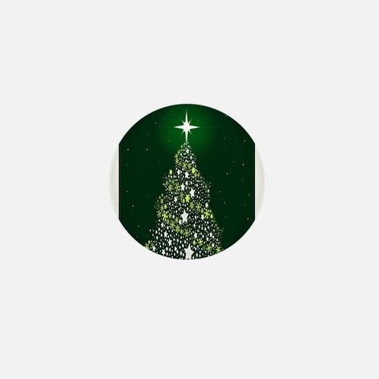 Star Spangled Christmas Tree Mini Button