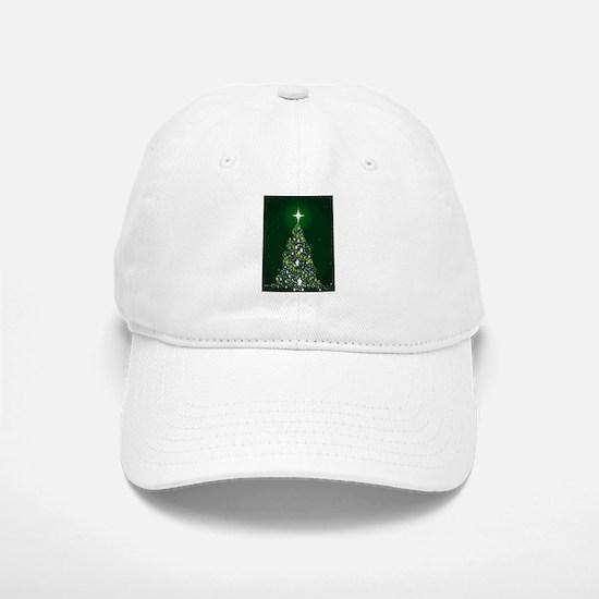 Star Spangled Christmas Tree Baseball Baseball Cap