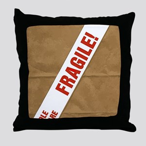 Fragile With Care Throw Pillow