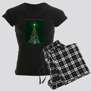 Star Spangled Christmas Tree Women's Dark Pajamas