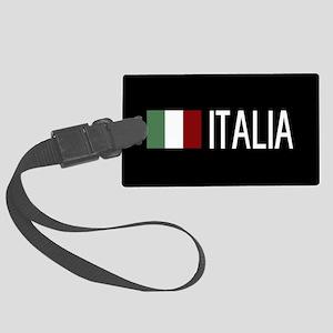 Italy: Italia & Italian Flag Large Luggage Tag