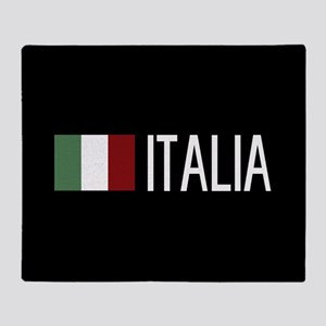 Italy: Italia & Italian Flag Throw Blanket