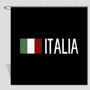 Italy: Italia & Italian Flag Shower Curtain