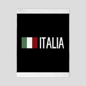 Italy: Italia & Italian Flag Twin Duvet
