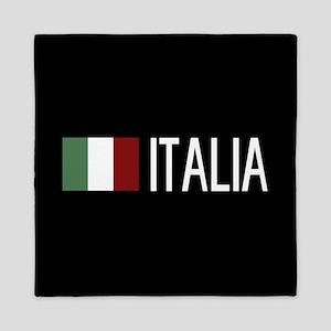 Italy: Italia & Italian Flag Queen Duvet
