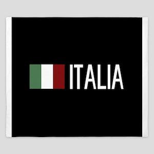 Italy: Italia & Italian Flag King Duvet