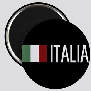 Italy: Italia & Italian Flag Magnet
