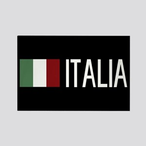Italy: Italia & Italian Flag Rectangle Magnet