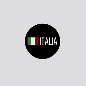 Italy: Italia & Italian Flag Mini Button