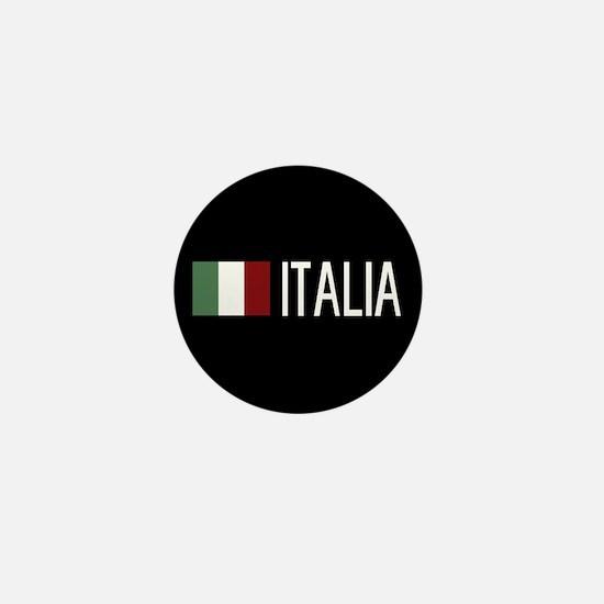 Italy: Italia & Italian Flag Mini Button