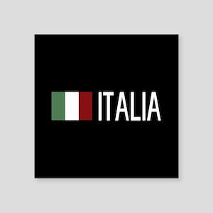 "Italy: Italia & Italian Fla Square Sticker 3"" x 3"""