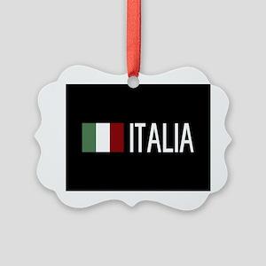 Italy: Italia & Italian Flag Picture Ornament