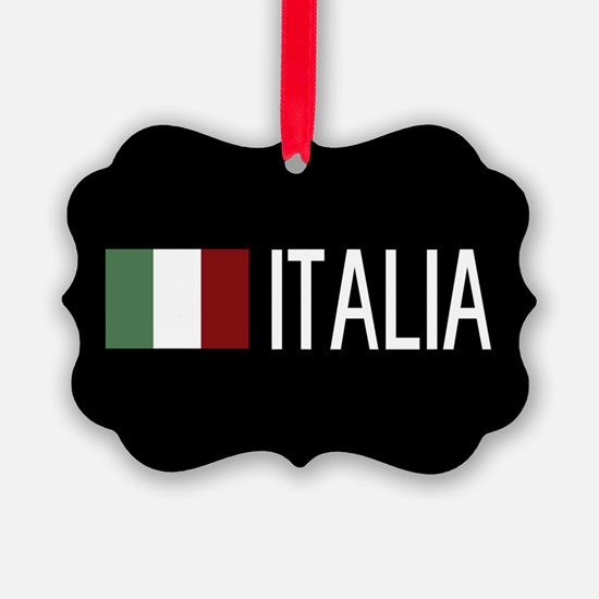 Italy: Italia & Italian Flag Ornament