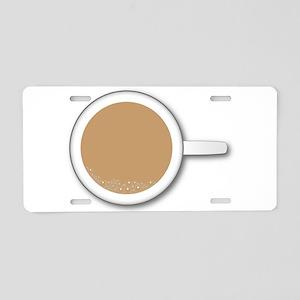 Tea Cup Aluminum License Plate