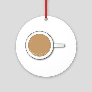 Tea Cup Round Ornament