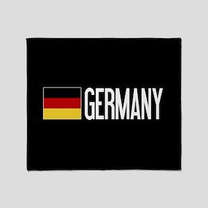 Germany: Germany & German Flag Throw Blanket