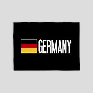 Germany: Germany & German Flag 5'x7'Area Rug