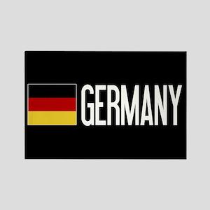 Germany: Germany & German Flag Rectangle Magnet