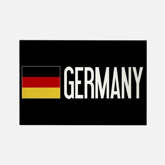Germany: Germany & German Flag Rectangle Magnet