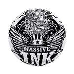 Massive Ink 900x900 Round Ornament