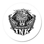 Massive Ink 900x900 Round Car Magnet