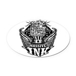 Massive Ink 900x900 Oval Car Magnet