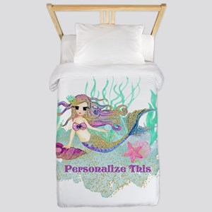Cute Personalized Mermaid Twin Duvet Cover