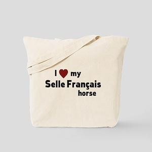 Selle Francais horse Tote Bag