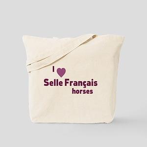 Selle Francais horses Tote Bag