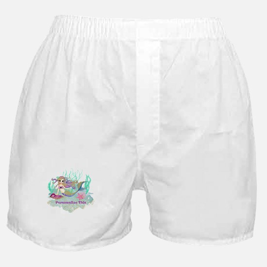 Cute Personalized Mermaid Boxer Shorts