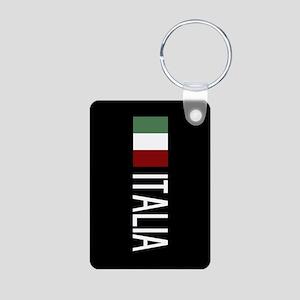 Italy: Italian & Italian F Aluminum Photo Keychain