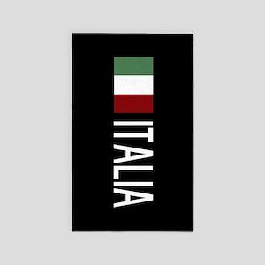 Italy: Italian & Italian Flag Area Rug
