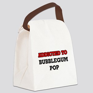 Addicted to Bubblegum Pop Canvas Lunch Bag