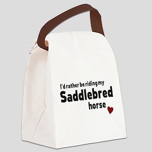 Saddlebred horse Canvas Lunch Bag